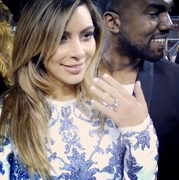 Kanye West And Kim Kardashian Engaged